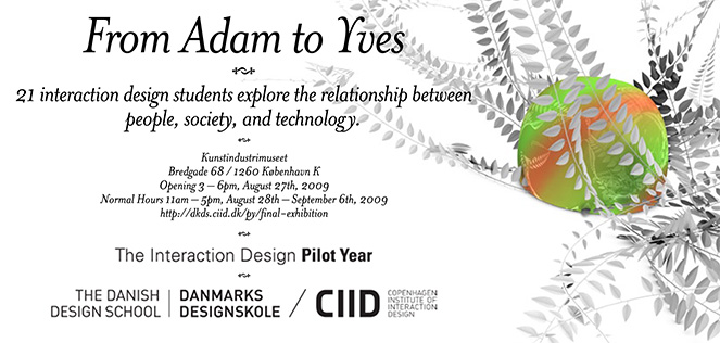 CIID's flyer for 2009 end of year show