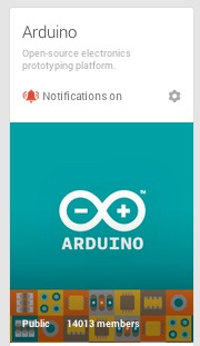 Arduino community on G+