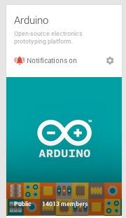 Arduino community on G+