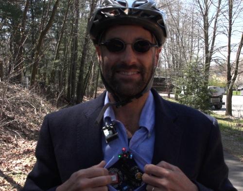 Lead Inventor David Kuller wearing the winning Conscious ClothingTM prototype