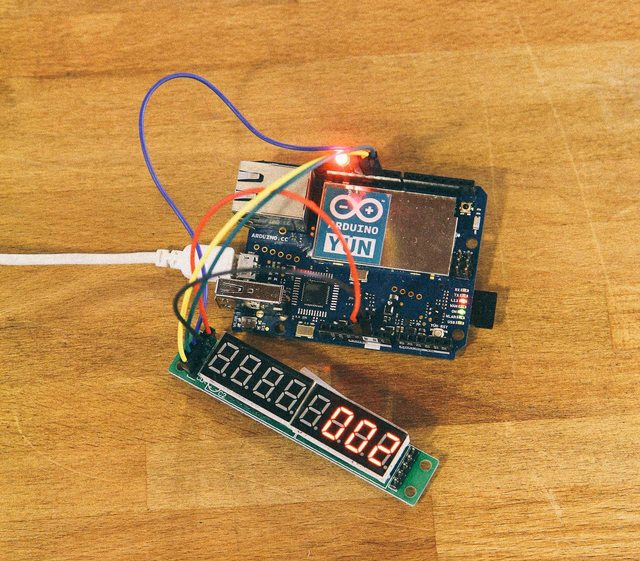 LED Display with Arduino Yún