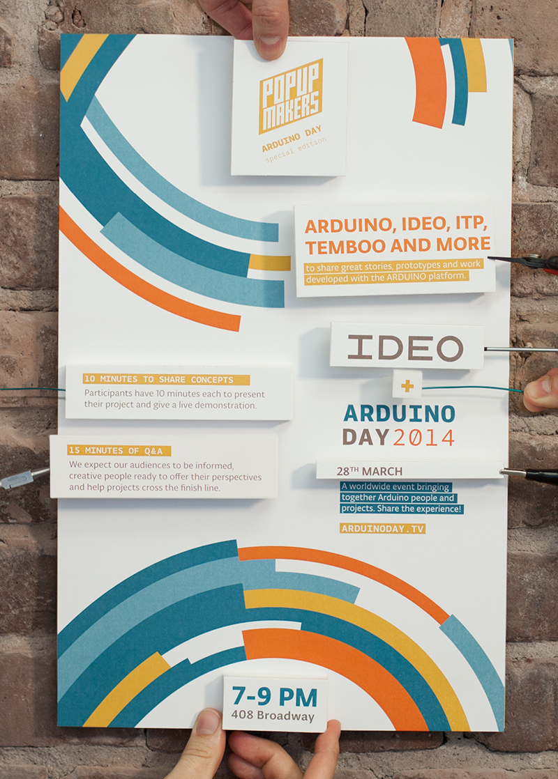 Poster ideo arduino day popupmakers