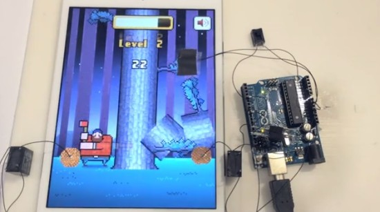 Arduino plays timberman or how to cheat in