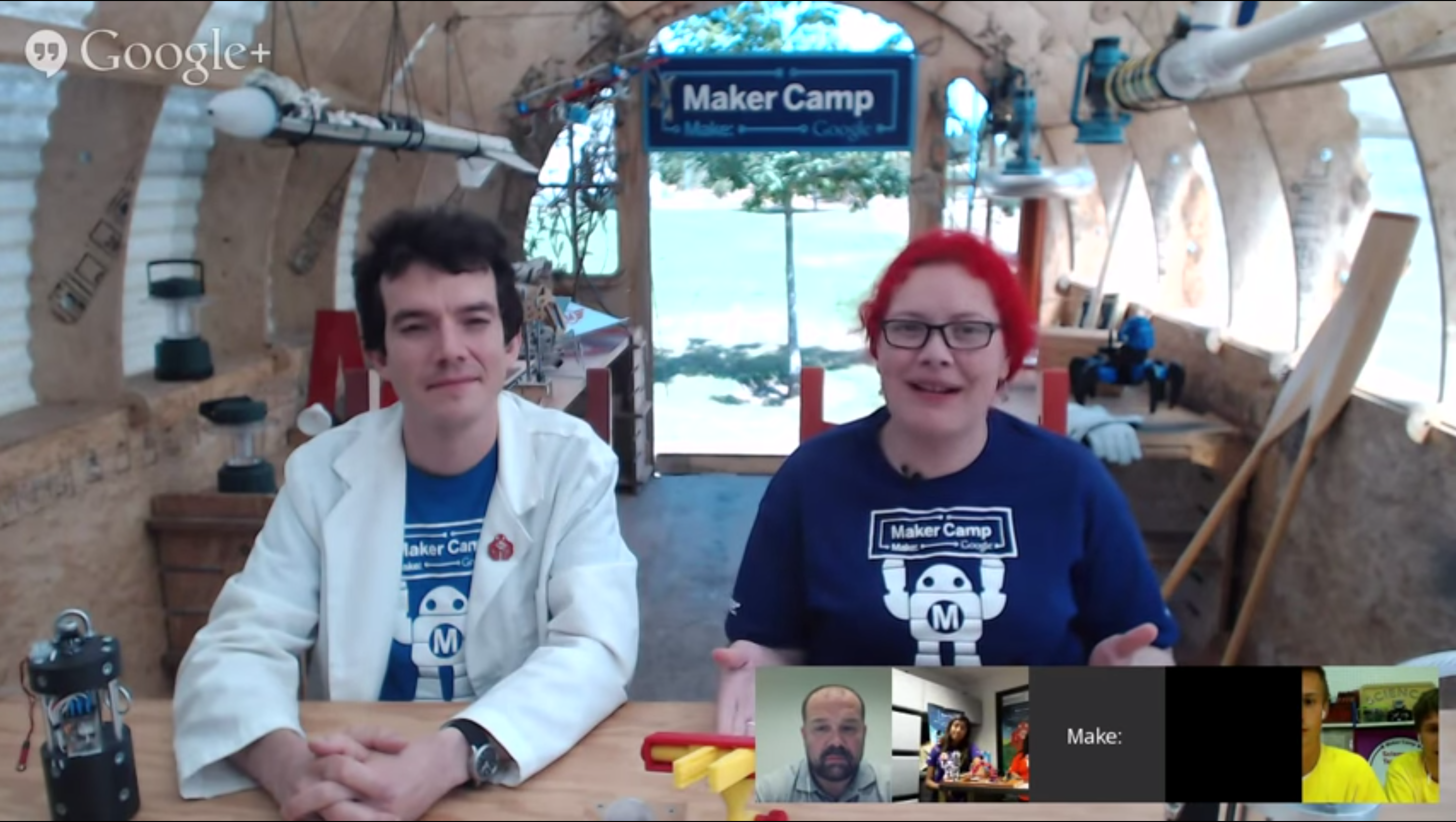 Watch Makercamp hangout hosting Massimo Banzi last July