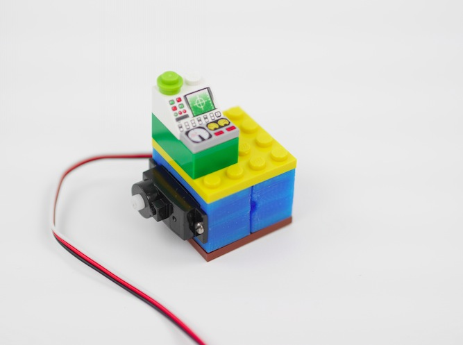 Arduino design a lego compatible servo holder and