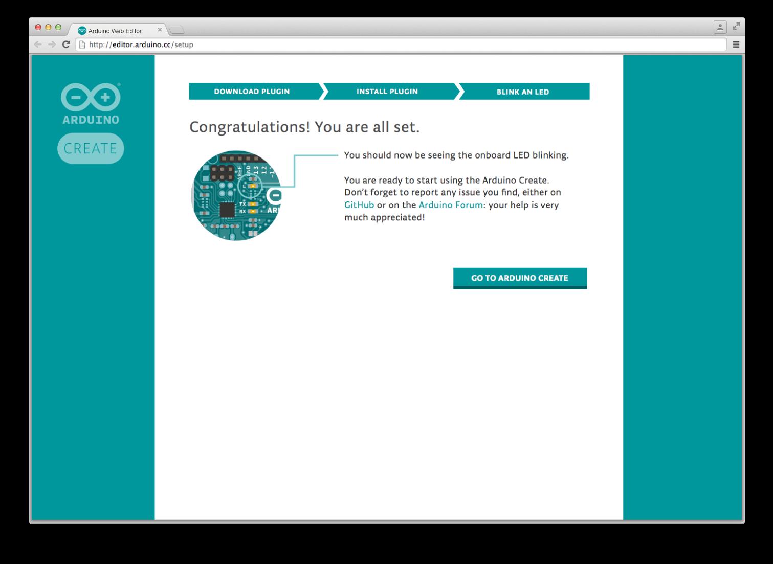 Download arduino web editor