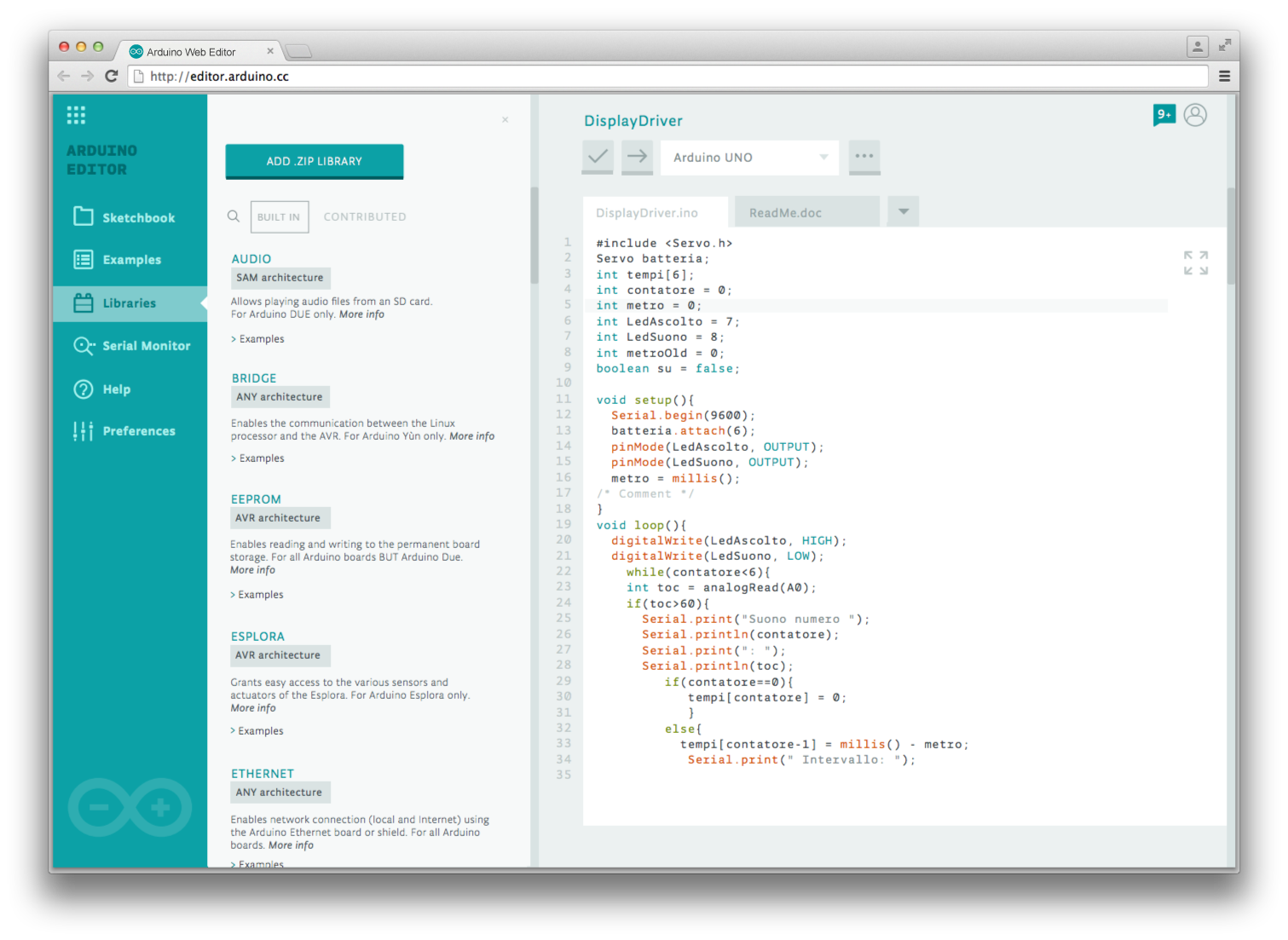 Arduino Blog » Sneak peek on the new, web-based Arduino Create