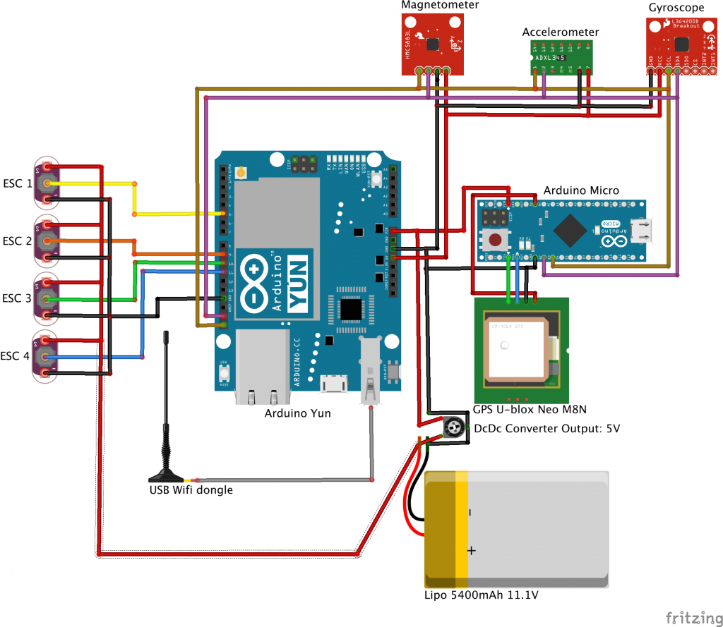 Circuit Diagram Of Drone Quadcopter - Circuit Diagram Images on
