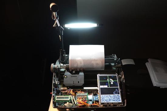 Arduino hacked typewriter prints selfies as ascii art