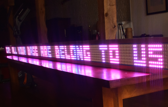 If youu0027ve ever wanted your own Times Square-like zipper albeit a little smaller youu0027re in luck. Thatu0027s because Josh Levine has created a giant scrolling ... & Arduino Blog » A giant Arduino-powered scrolling LED sign costs $15 ...