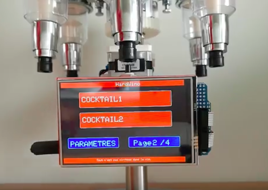 HardWino is an open-source, Arduino-based cocktail maker