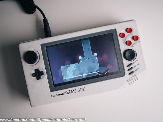 Arduino a d printed reimagined game boy prototype