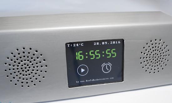Arduino Blog 187 A Sheet Metal Arduino Mp3 Alarm Clock