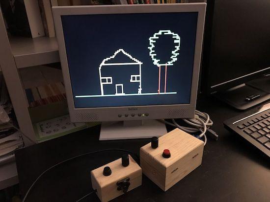 Arduino make etch a sketch doodles on vga screen