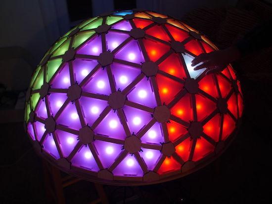Arduino Blog 187 Interactive Geodesic Led Dome Extreme