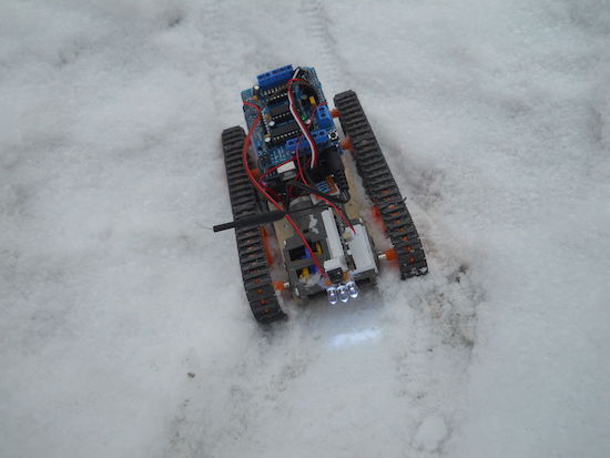 Arduino control a tracked robot with your mind or