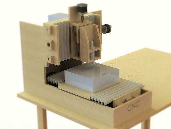 Homemade MDF desktop CNC router for €200