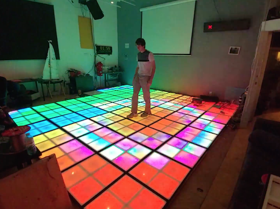 Arduino Blog An Interactive Led Floor To Get The Dance Party Started
