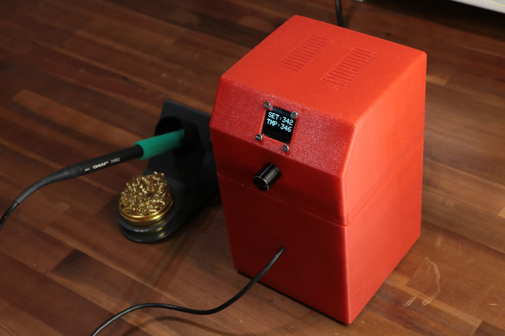 Why buy a soldering station when you can build one instead?