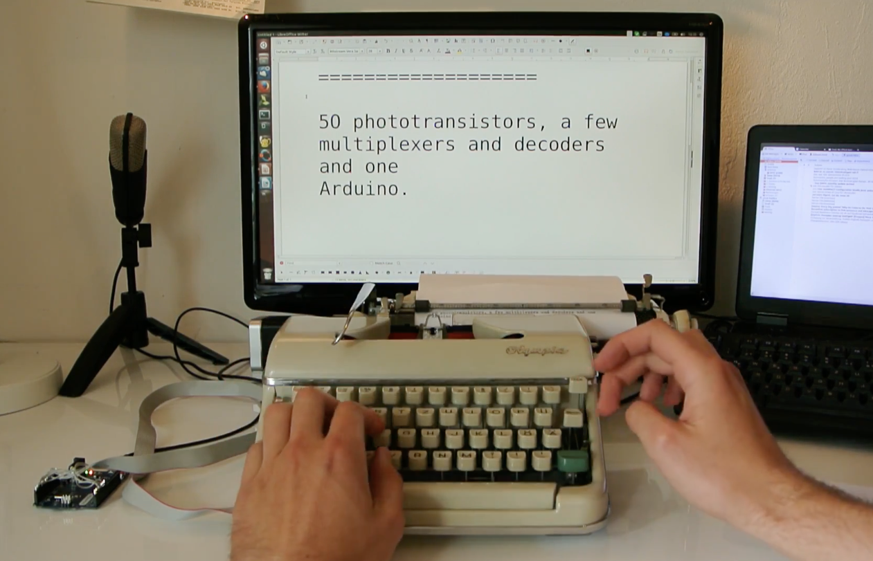 Arduino hack an old typewriter with for