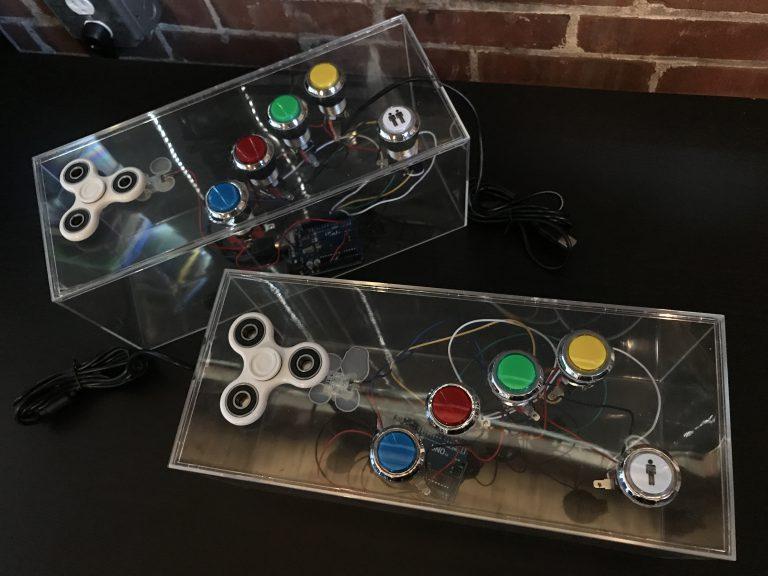 An arduino fidget spinner arcade controller