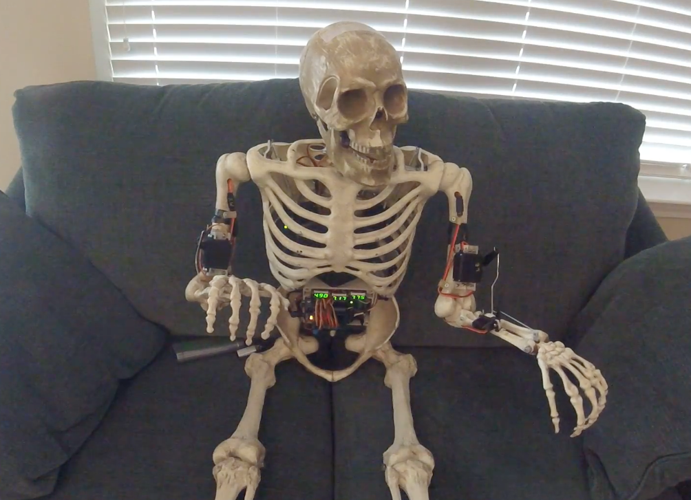 arduino blog » skelly the skeleton robot, Skeleton