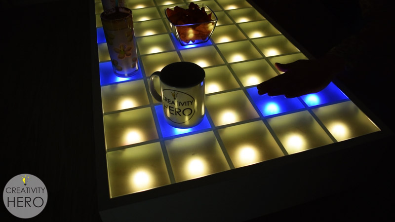 Arduino Blog 187 Make An Interactive Coffee Table With
