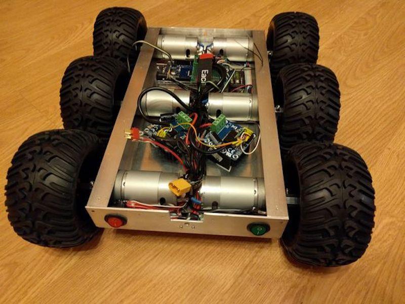 Arduino Blog » Build a six-wheeled RC vehicle for any terrain