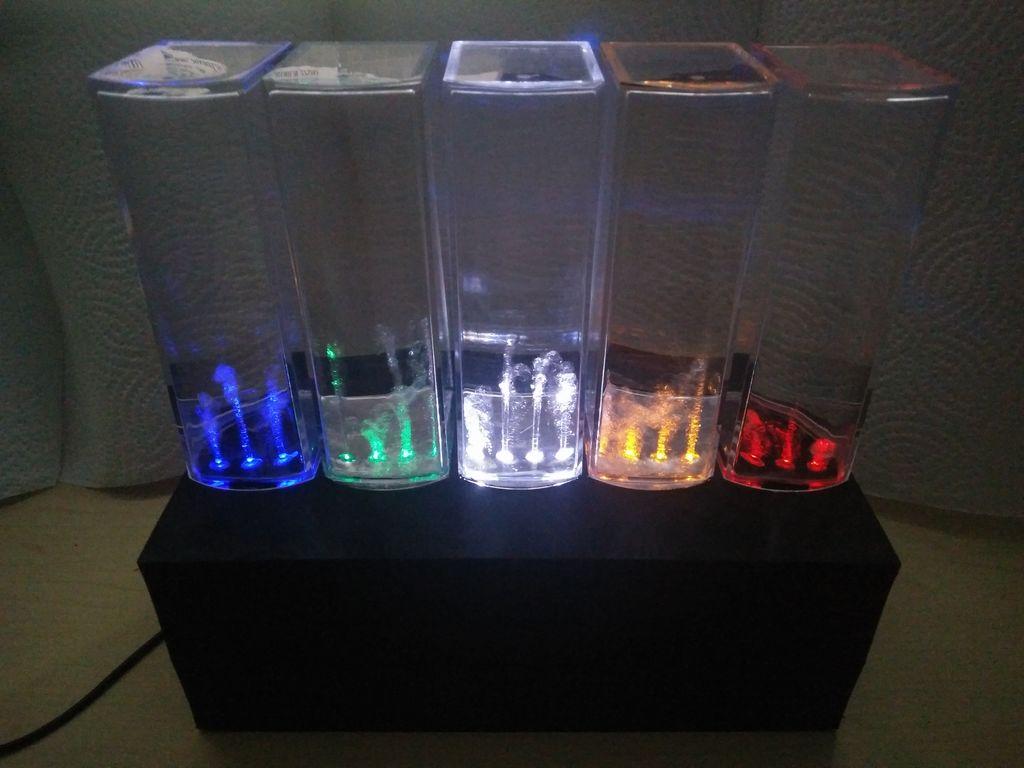 Arduino Blog 187 Water Speakers Enhanced With An Arduino Mega