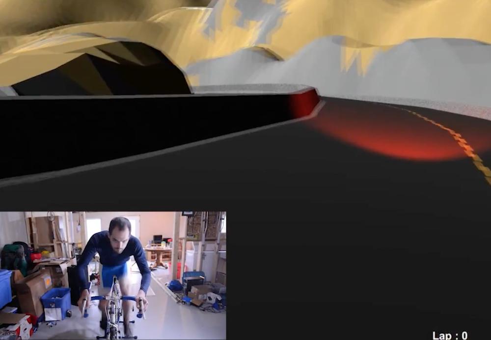 Arduino-powered Infinity Bike virtual training environment