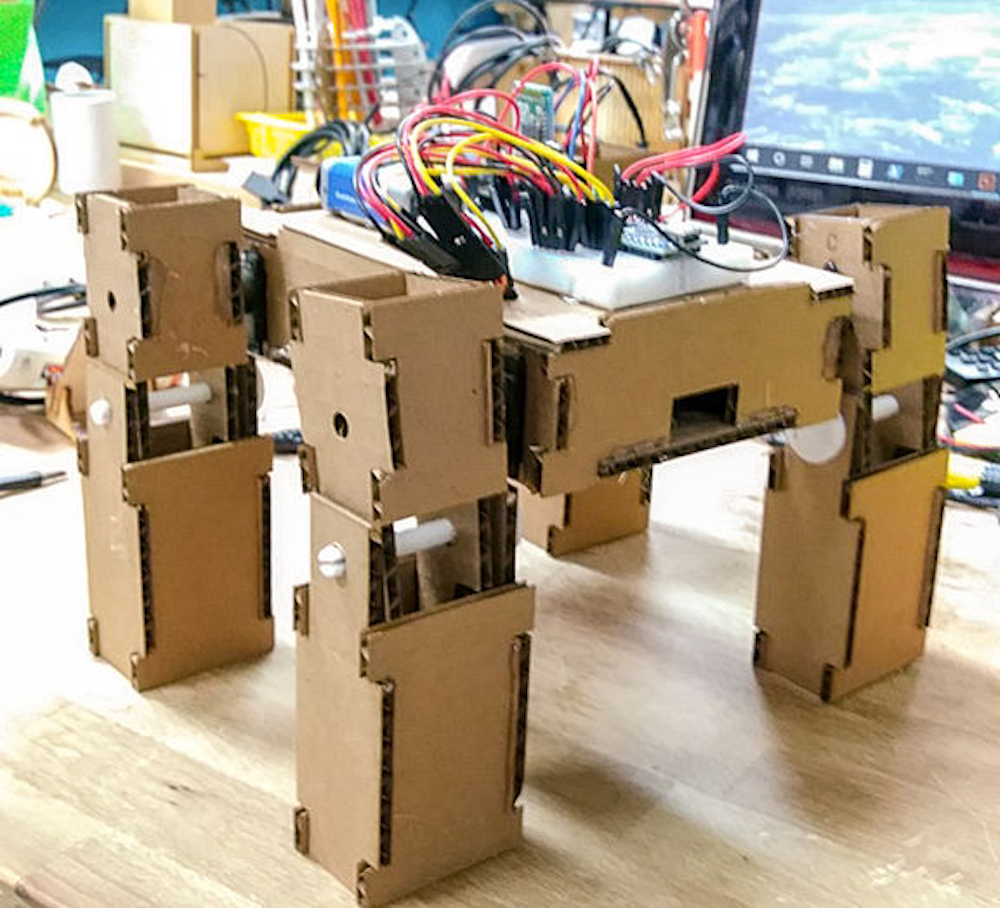 How to make a robot dog out of cardboard