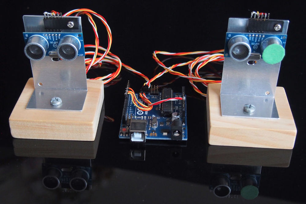 arduino blog dual ultrasonic sensors combine for 2d echolocationultrasonic sensors are great tools for measuring linear distance or object presence as shown in this experiment by \u201clingib,\u201d two sensors can also be