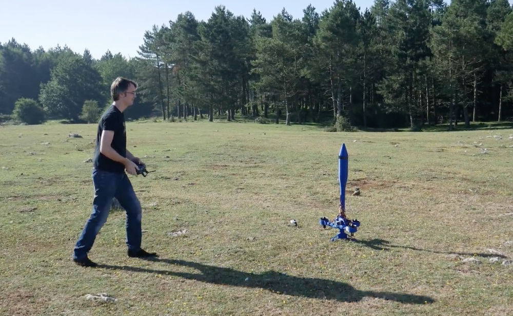 Arduino Blog » Electric-powered fan rocket takes off and