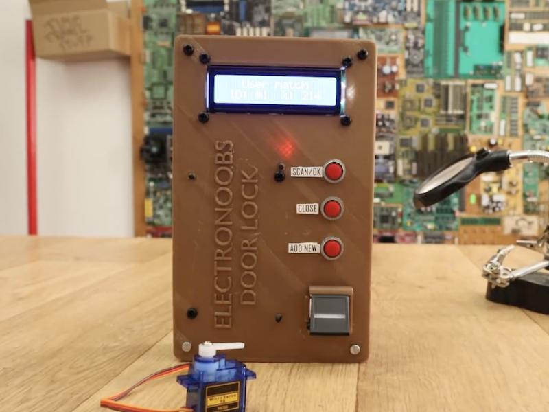 Arduino Blog » Build an Arduino Mega fingerprint door lock