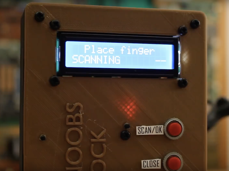 Arduino Blog 187 Build An Arduino Mega Fingerprint Door Lock