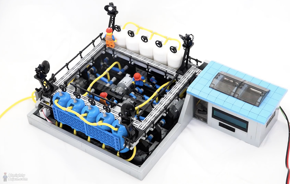 Arduino Blog 187 A Beautifully Designed Lego Pneumatic