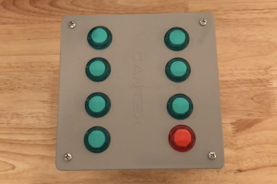 Keep track your weekly tasks with Arduino and arcade buttons