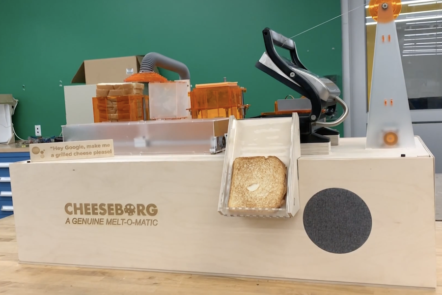 Arduino Blog » Cheeseborg is a voice-controlled robot that