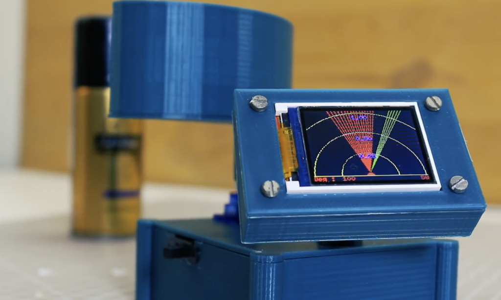 """Arduino Blog » Detect objects with this DIY """"radar"""" display"""