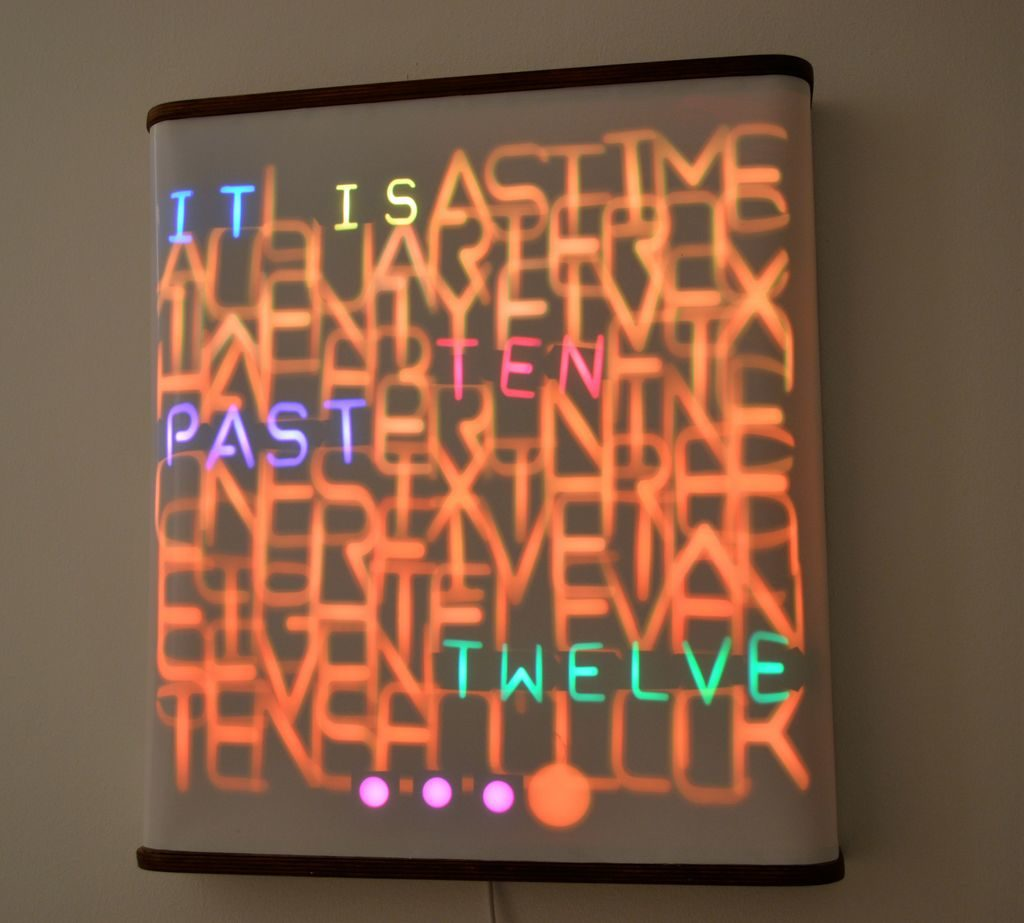 Arduino Blog » This incredible word clock is controlled by 114 servos