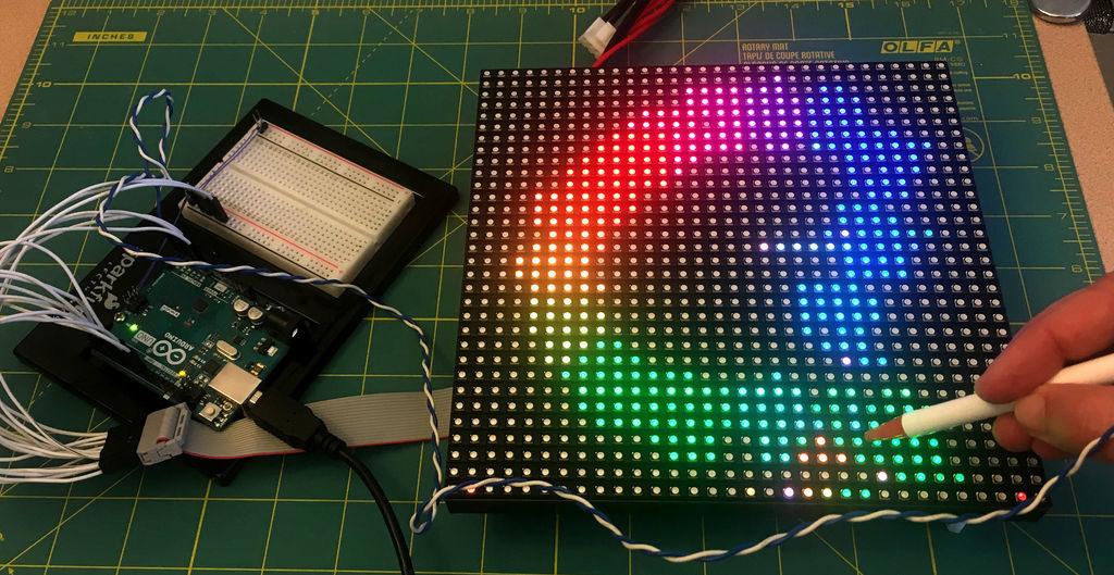 Arduino Blog » Use an LED matrix as a scanner