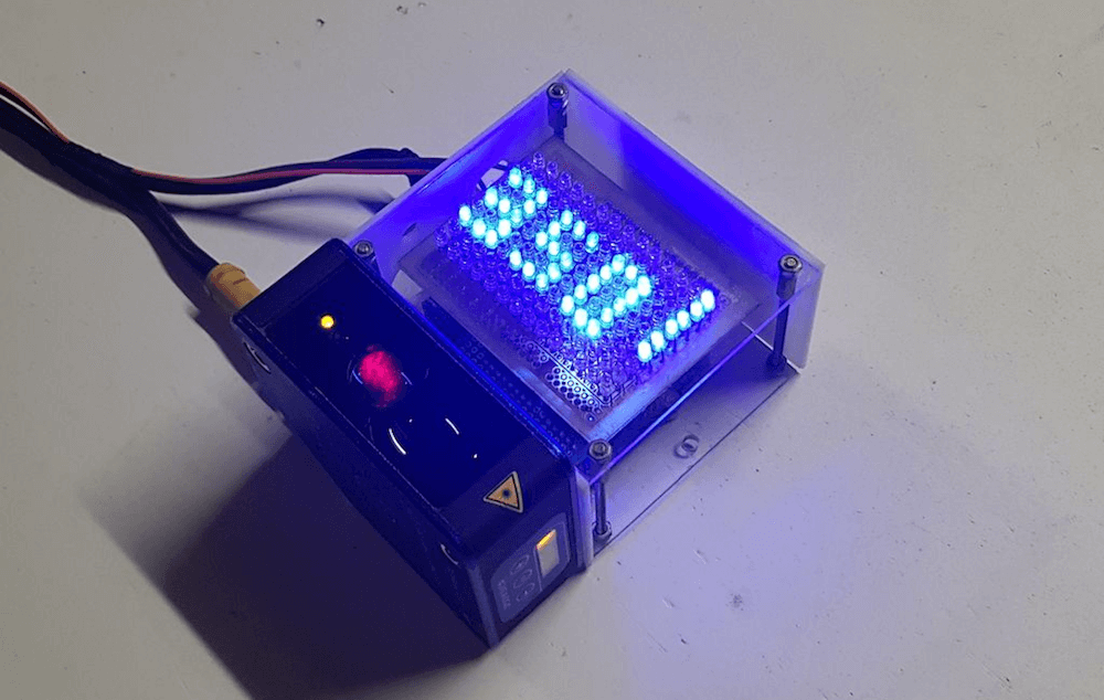 Arduino and industrial distance sensor communicate via RS-485