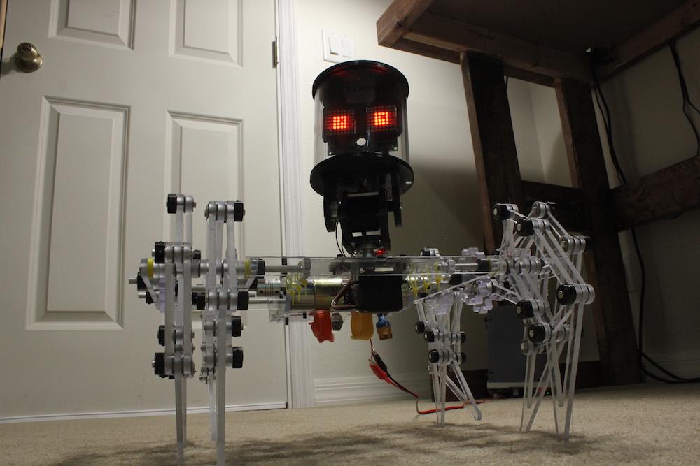 ClearCrawler Strandbeeest walks under Arduino control