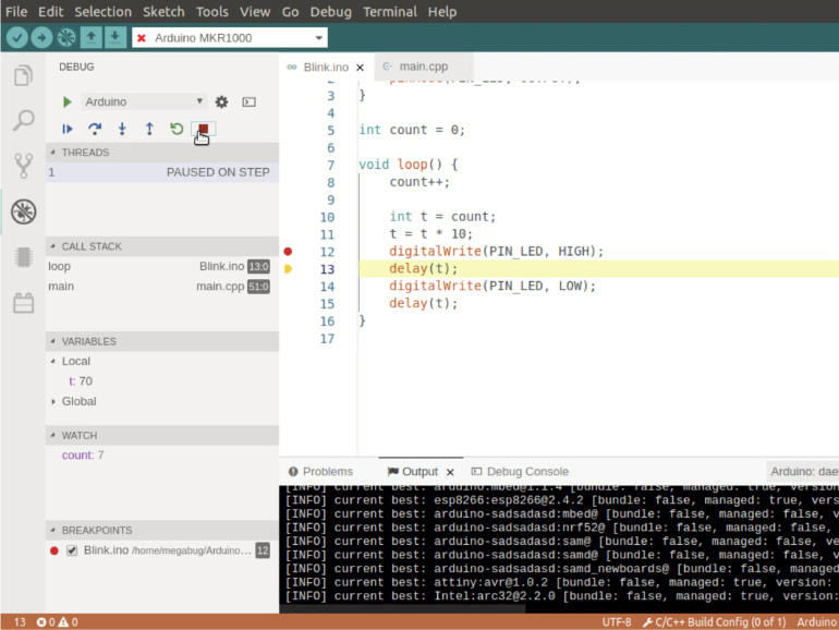 Preview the Debugger feature for the Arduino Pro IDE