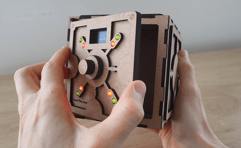 Create your own crack the code game with an Arduino-controlled safe