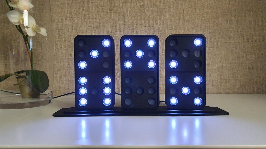 This DIY domino clock tells the time using three tiles