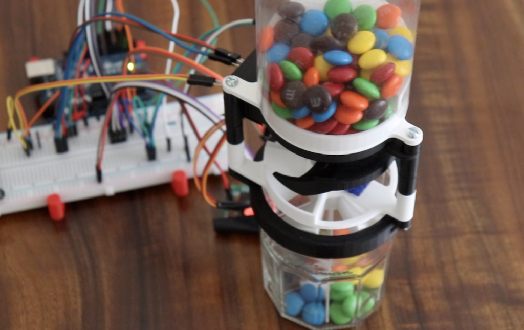This Arduino device will sort your M&M's by color